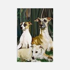 whippet family grouping blanket Rectangle Magnet