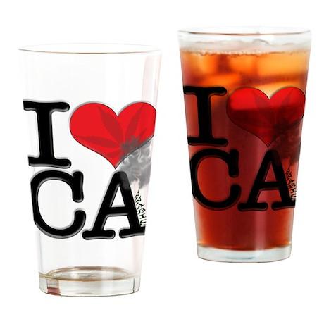 I Love CAnnabis Drinking Glass