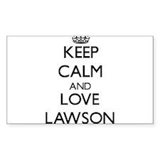 Keep Calm and Love Lawson Decal