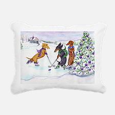 hockey5x7 Rectangular Canvas Pillow