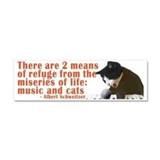 music-and-cats-bumper-sticker Car Magnet 10 x 3