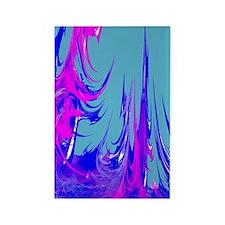 funky fuschia neon abstract art Rectangle Magnet