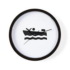 Motor-Boat-Broke-White Wall Clock