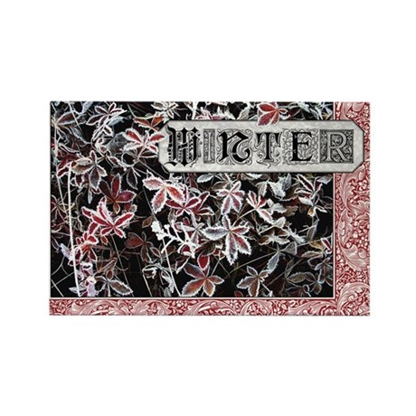 Winter Rectangle Magnet