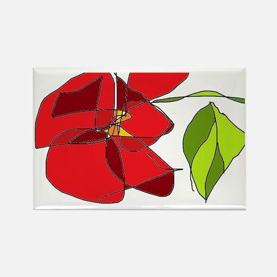 chuncky red rose  Rectangle Magnet