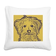 Schnoodle_2tone Square Canvas Pillow