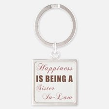 Happiness_SisterInLaw Square Keychain