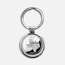 quarter_texas_600 Round Keychain