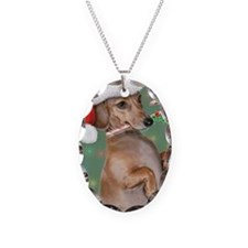 Dachshund Lillys Christmes Necklace