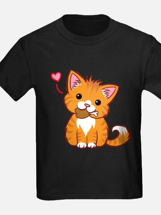 Orange Kitty Love T-Shirt