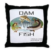 DAMFISH Throw Pillow