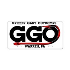 GrizzlyGary_hook Aluminum License Plate