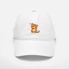 Orange Kitty Love Baseball Baseball Baseball Cap
