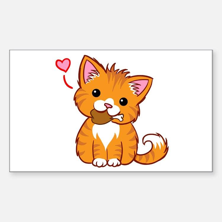 Orange Kitty Love Decal