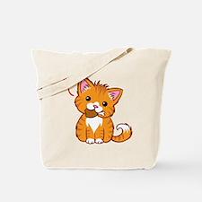 Orange Kitty Love Tote Bag