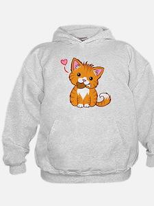 Orange Kitty Love Hoodie