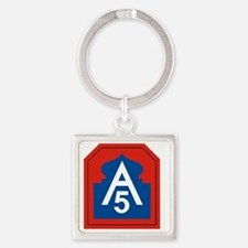5th Army Square Keychain