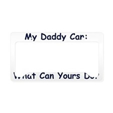 MyDaddyDoesIronman License Plate Holder