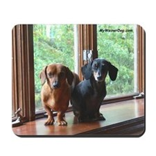 dasie and harley window seat Mousepad