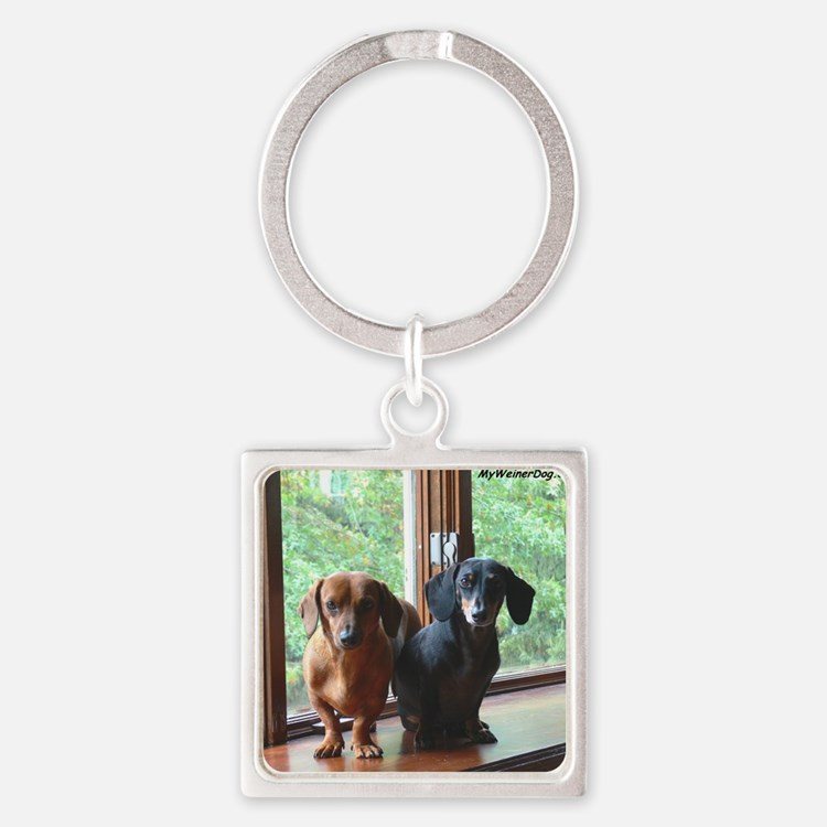 dasie and harley window seat Square Keychain