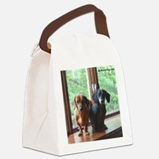 dasie and harley window seat Canvas Lunch Bag