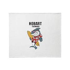 Hobart, Tasmania Throw Blanket