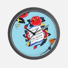 YouAreMyLoveTattooiPadCaseTemp Wall Clock