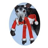 Greyhound Oval Ornaments