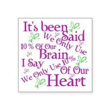 "Brain Square Sticker 3"" x 3"""