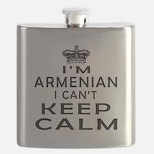 I Am Armenian I Can Not Keep Calm Flask