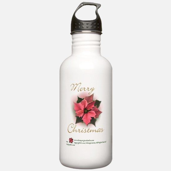 MerryChristmaspoinsett Water Bottle