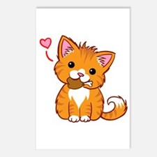 Orange Kitty Love Postcards (Package Of 8)