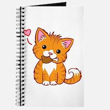 Orange Kitty Love Journal