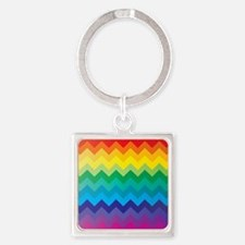 Rainbow Chevron Keychains