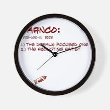 allwheresfrtext2 Wall Clock