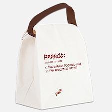 allwheresfrtext2 Canvas Lunch Bag