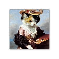 """Miss Kitty Square Sticker 3"""" x 3"""""""