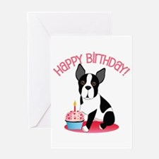 Happy Birthday Boston Terrier Greeting Cards