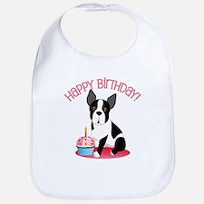 Happy Birthday Boston Terrier Bib