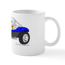 Dune Buggy Dark Lines in Color Blue Mug