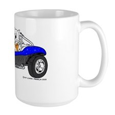 Dune Buggy Dark Lines in Color Blue Mug