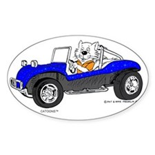 Dune Buggy Dark Lines in Color Blue Decal