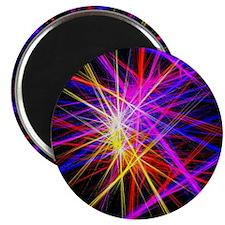 futuristic purple lines geometric abstract Magnet