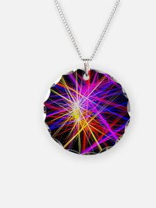 futuristic purple lines geom Necklace