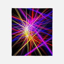 futuristic purple lines geometric ab Throw Blanket