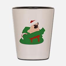Pug Christmas Bag Shot Glass
