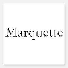 "MqtBlkTxt.gif Square Car Magnet 3"" x 3"""