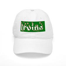 irvine christmas city round ornament Baseball Cap