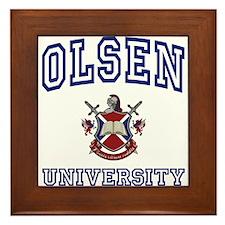 OLSEN University Framed Tile