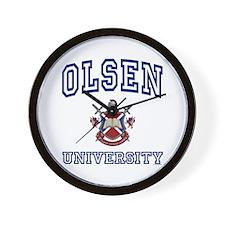 OLSEN University Wall Clock